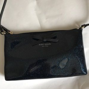Kate Spade Amy Mavis Blue Sparkle Crossbody Bag
